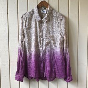 Anthropologie Holding Horses Ombré Button Down Top